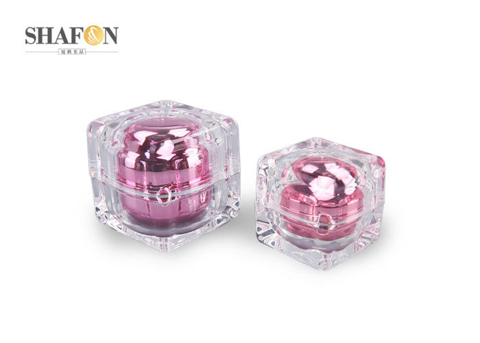 Exquisite Crystal Plastic Cosmetic Jars PMMA Material For Personal Care