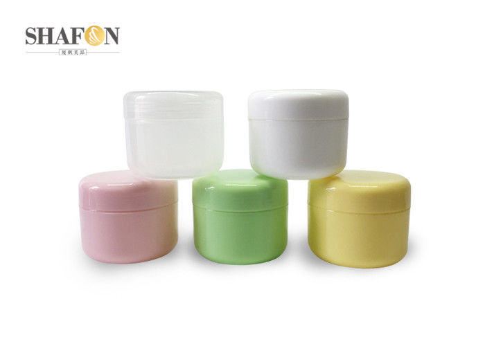 Empty Plastic Jar Containers 100g Round Shape Simple Design For Eye Cream